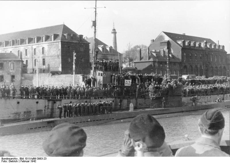U-123 at Lorient in February 1941