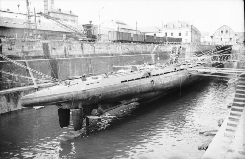 U-37 in drydock at Lorient