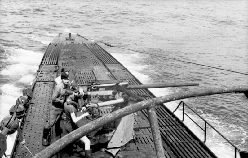 U-103 firing its main gun