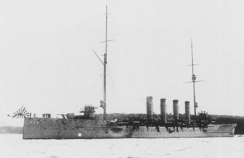IJN Chikuma at the time of her commission