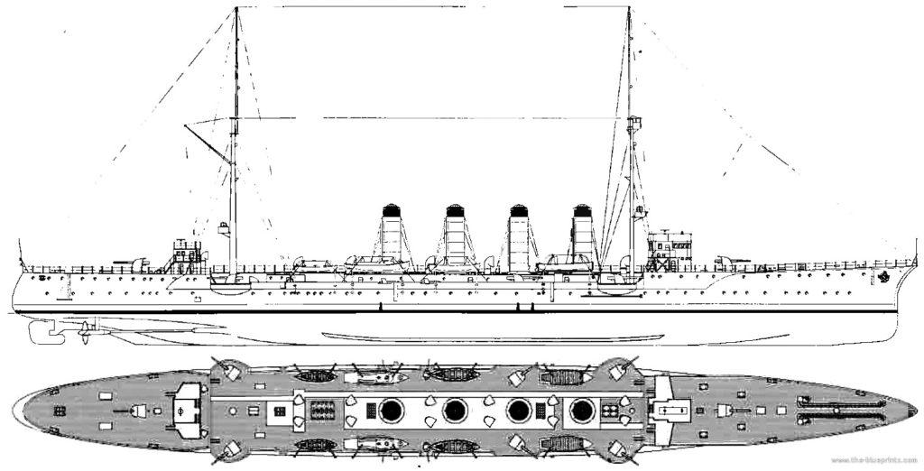 Blueprint of IJN Chikuma