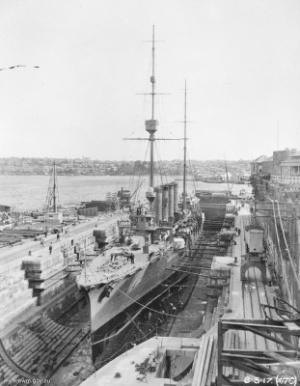 IJN_Hirado_in_drydock_Sydney_1917_AWM