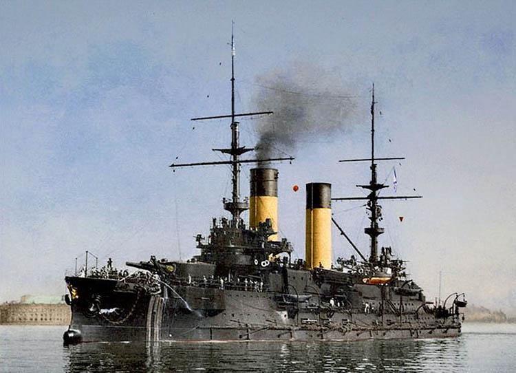 Tsesarevich at Port Arthur in 1904