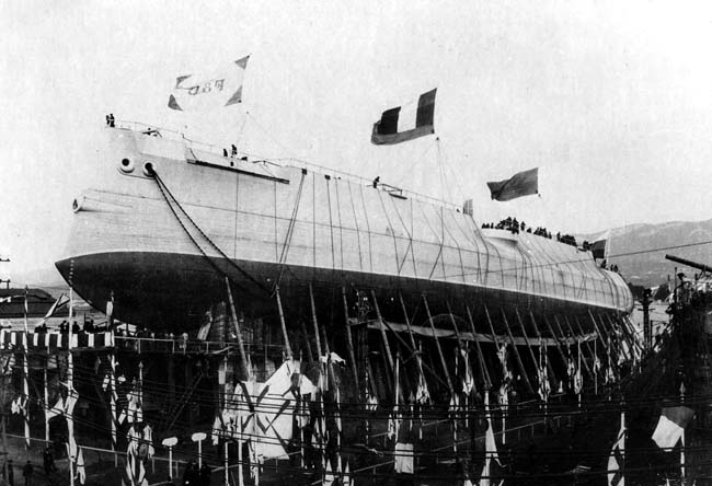 Launch of the Tsesarevich