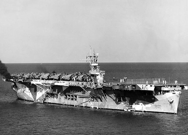 USS CVE-29 at anchor 1942