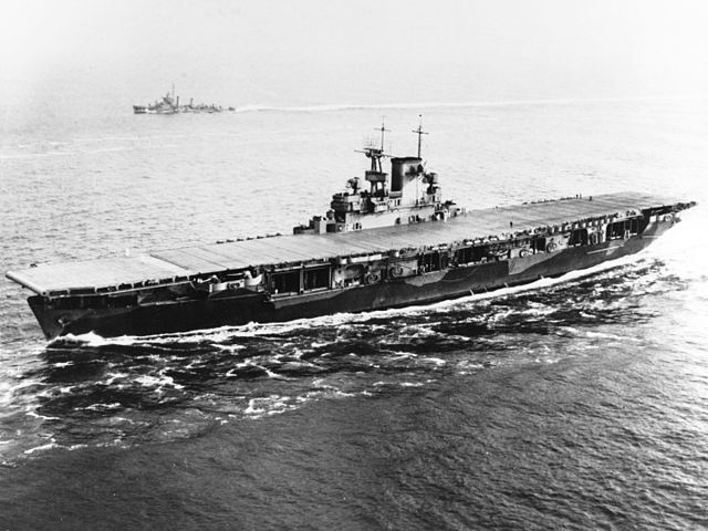 USS Wasp entering Hampton Roads on 26 May 1942