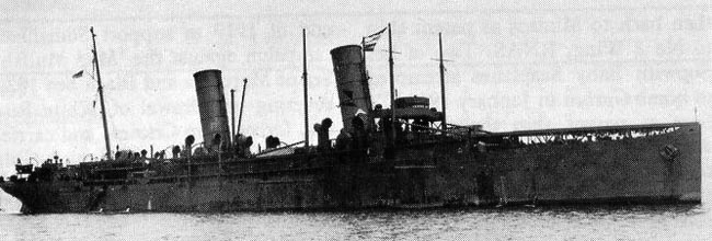 The HMS Campania in her first 1915 appearance