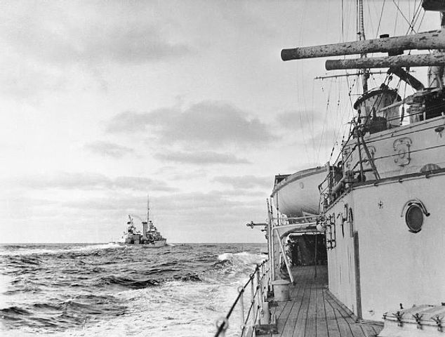 HMS Achilles as seen from HMS Ajax
