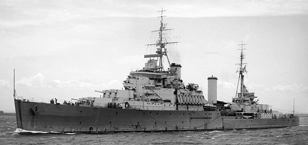 HMS Gambia 1945
