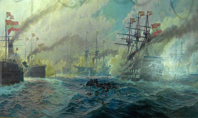 The Battle of Lissa by Kircher