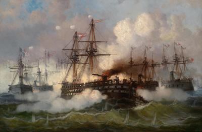 Battle of Lissa by Josef Carl Berthold Püttner