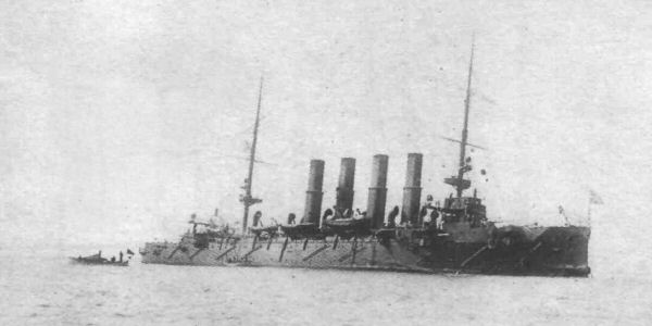 The Varyag after the battle of Chemulpo