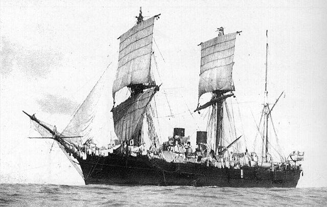 Vitiaz under sails