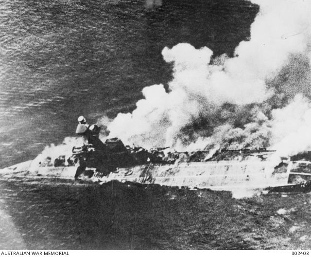 hms hermes sinking 1942