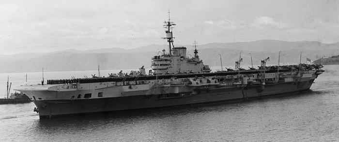 HMS Indefatigable 1945