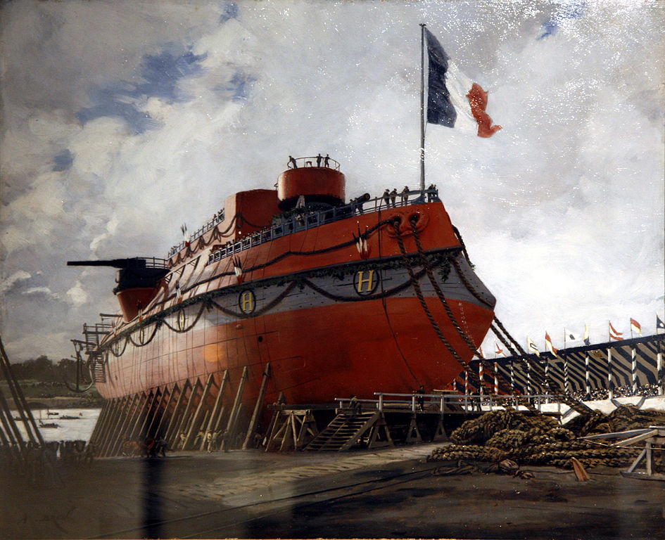 launch of the Hoche, 1886
