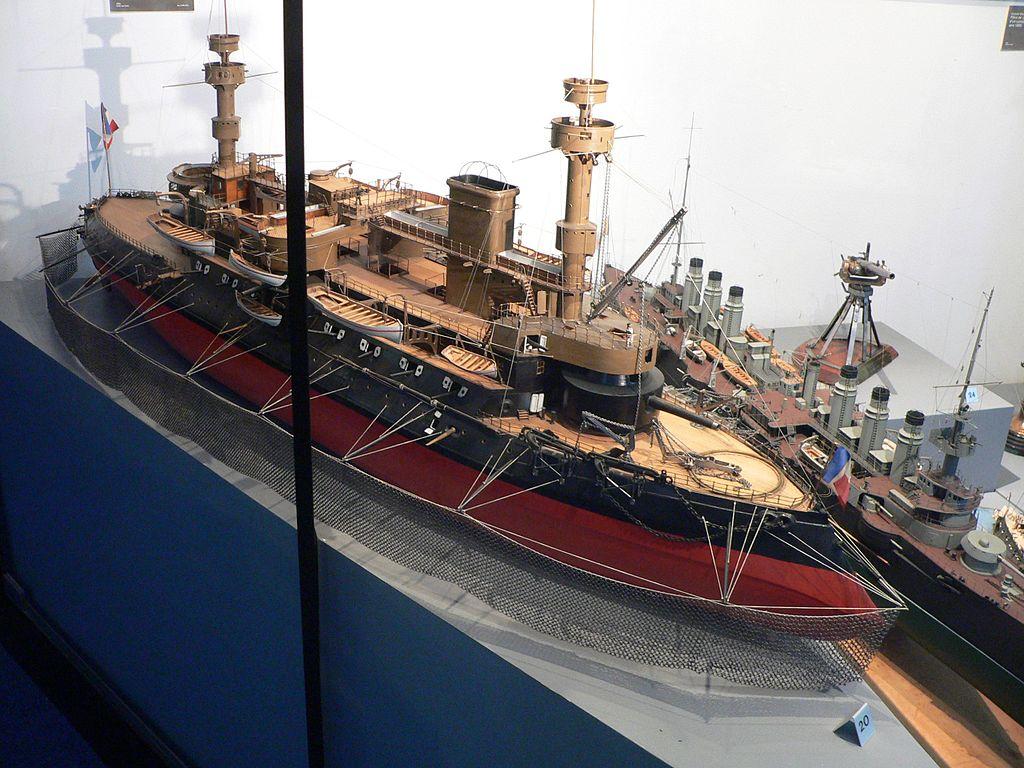 model of the Hoche Musee de la Marine Paris