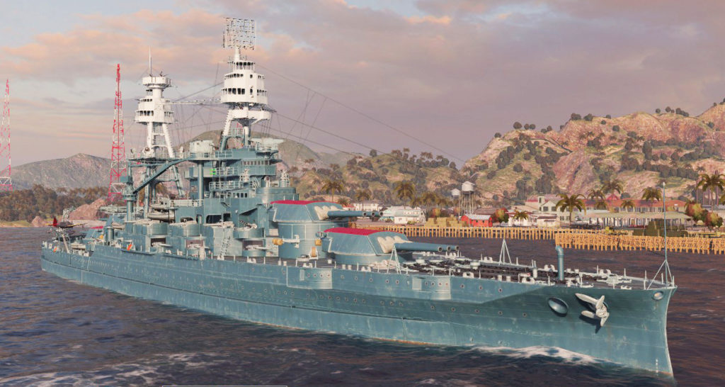 Wow's rendition of USS Oklahoma in 1941