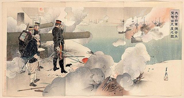 General Major Odera Yasuzumi commanding the artillery at Weihaiwei