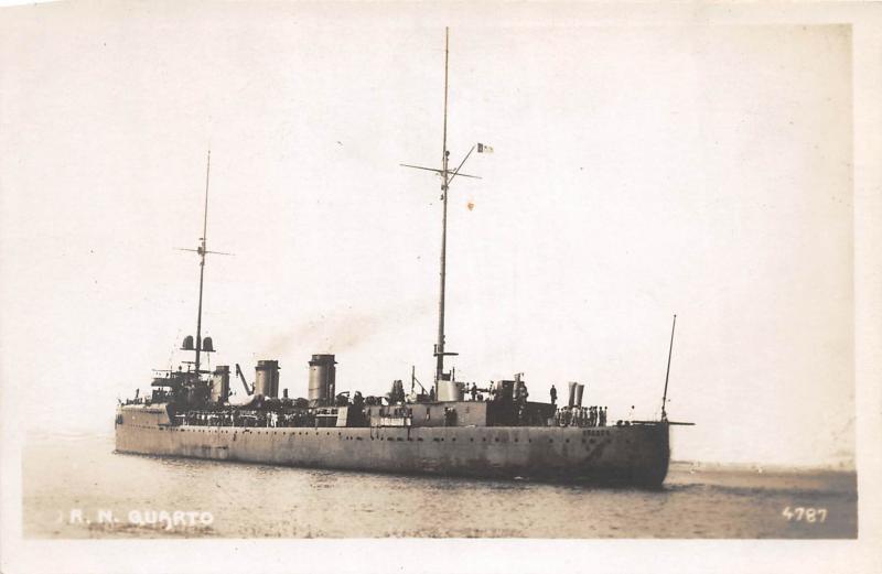 Italian cruiser Quarto - Postcard