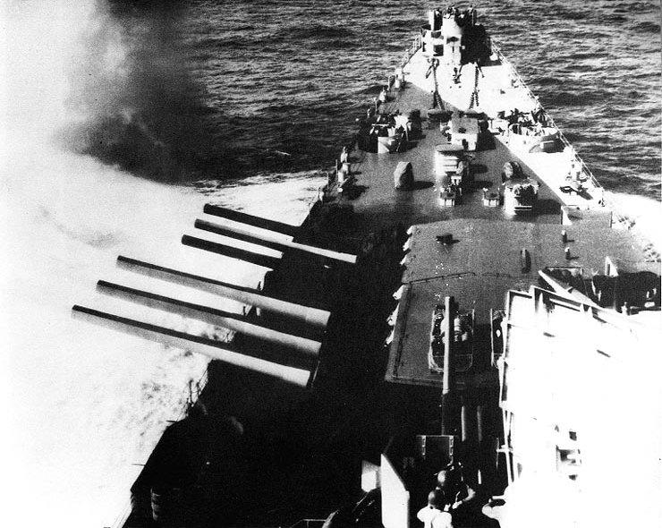 Main battery 1944-45