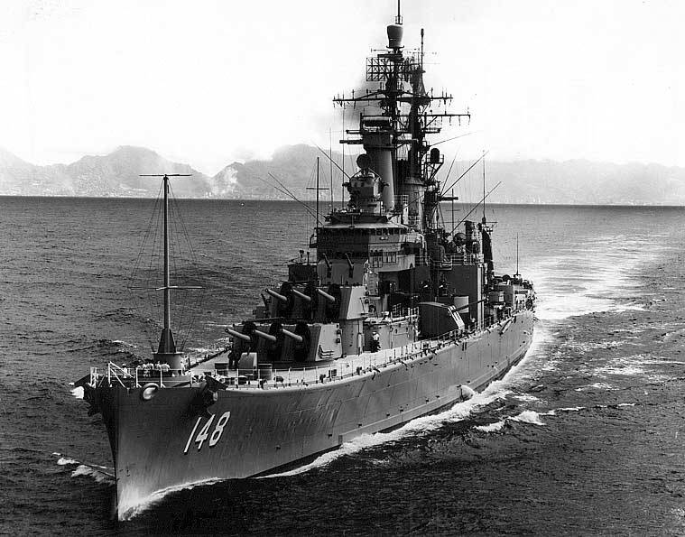 USS Newport News in 1966