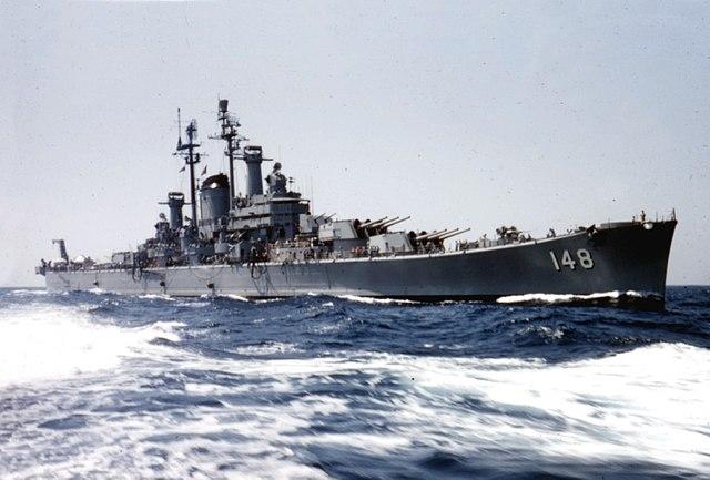 USS Newport News in 1957