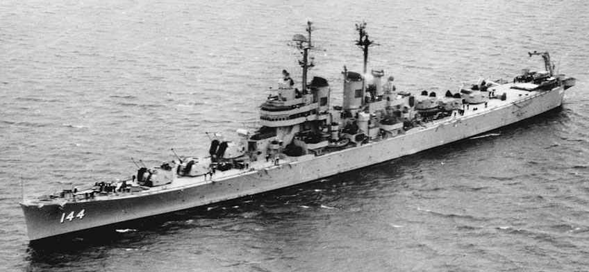 USS Worcester November 1949