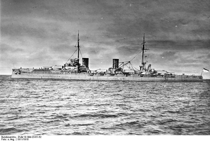 battlecruiser von der tann at sea