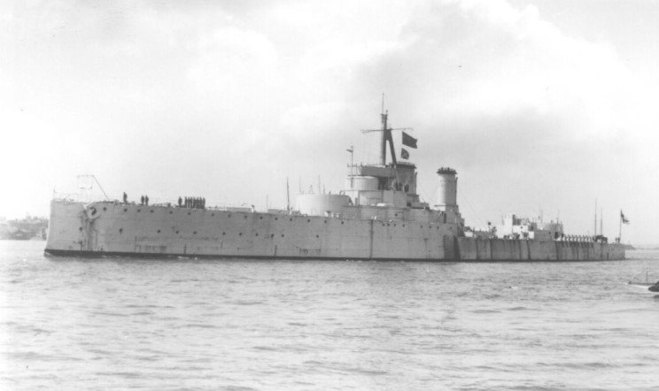 HMS Centution as target ship