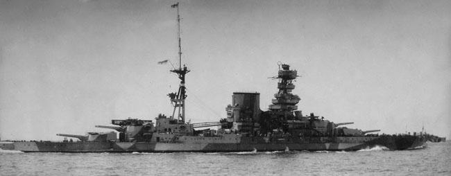 Barham camouflaged in 1941