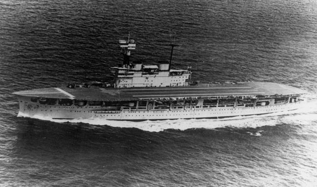 HMS Eagle underway in the 1930s