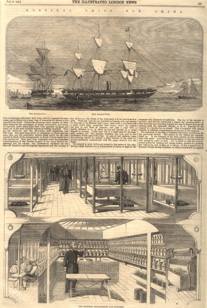 HMS Melbourne, second Opium war