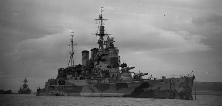HMS Renown at anchor 1942