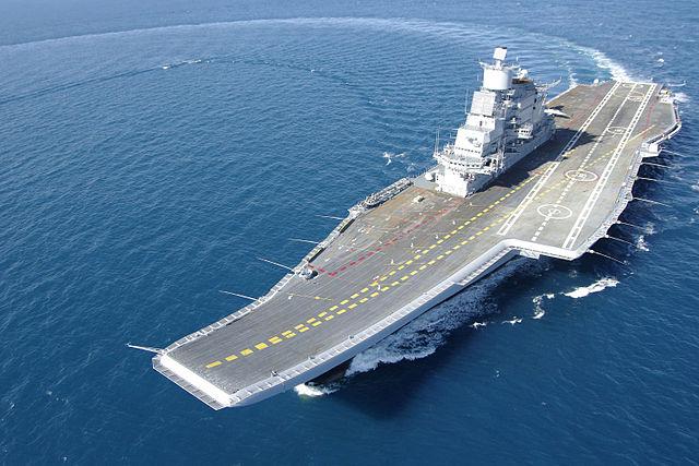 INS Vikramaditya during her sea trials
