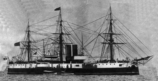 Riachuelo fully rigged, circa 1889