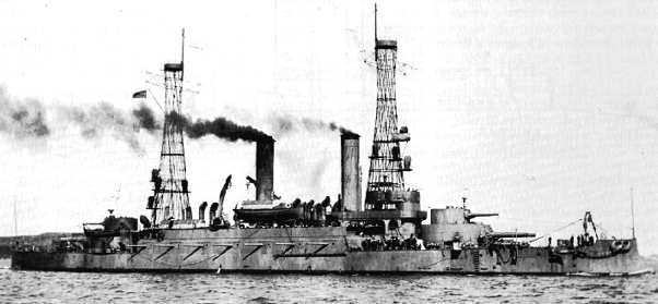 USS Kearsage after refit in 1916