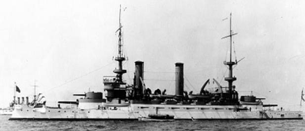 USS Kearsage with the great white fleet