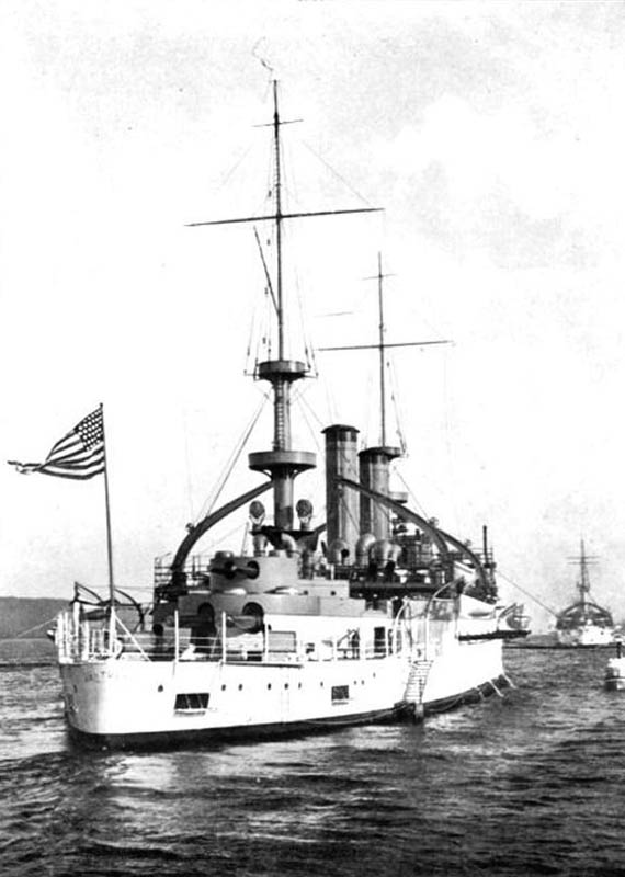USS Kentucky in Sidney with the great white fleet, 1906