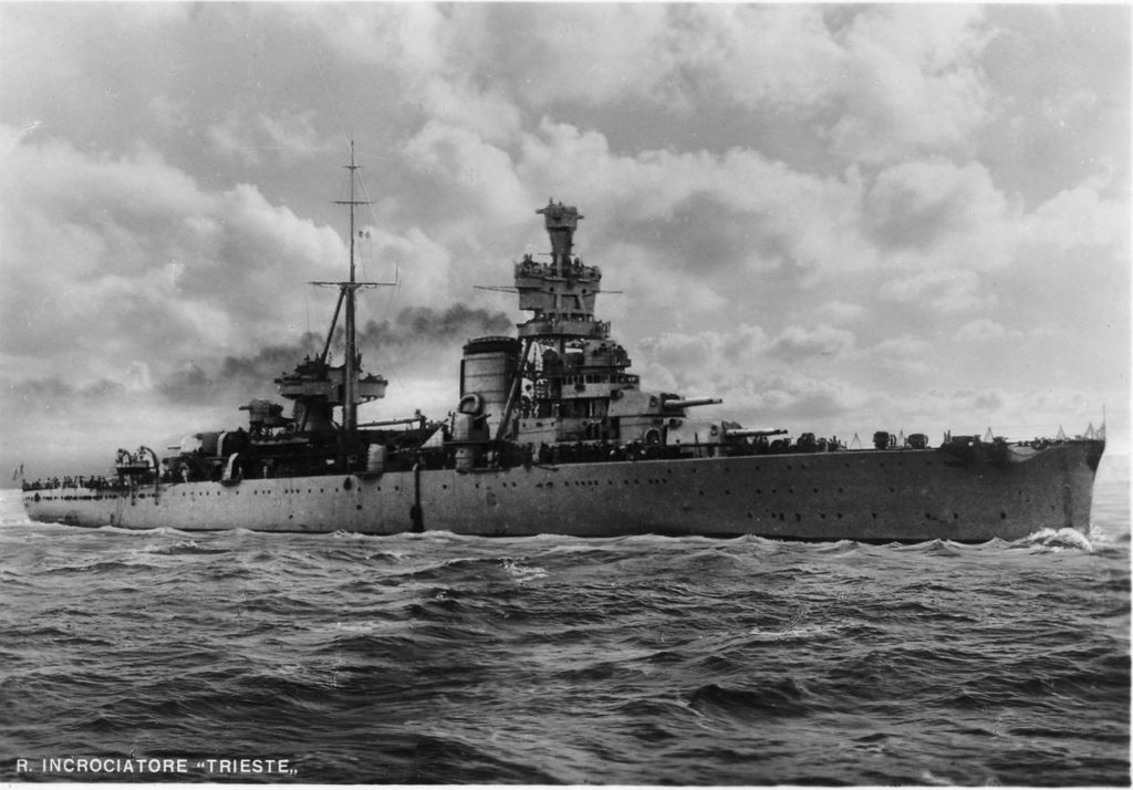 HD photo of the Trieste at sea