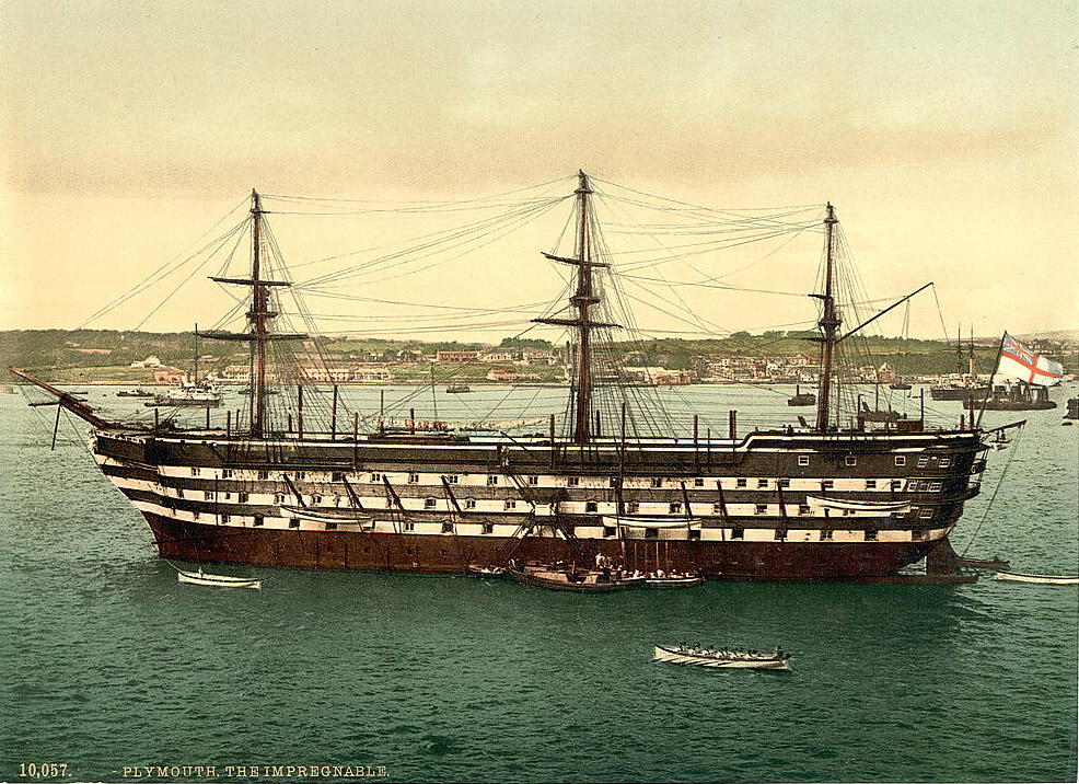 HMS Impregnable in Plymouth