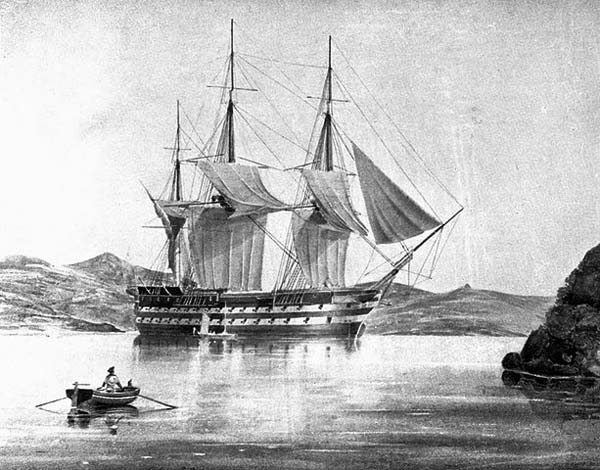 HMS vengeance by George Pechell Mends