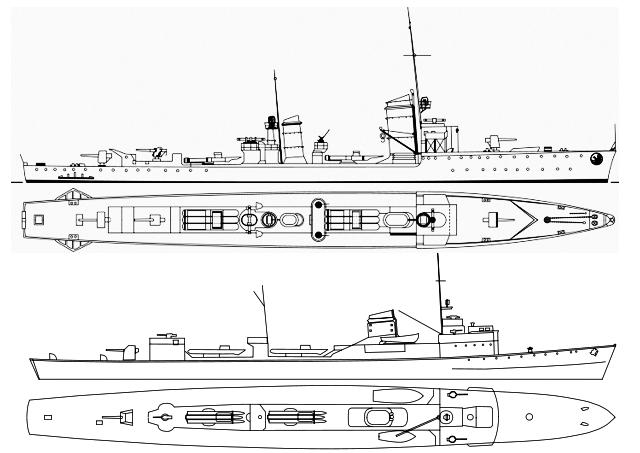 Type1935-Torpedoboot-scheme