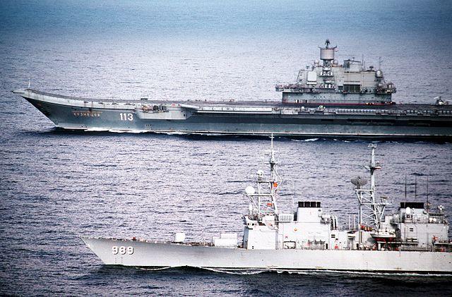 USS deyo and Admiral Kuznetsov