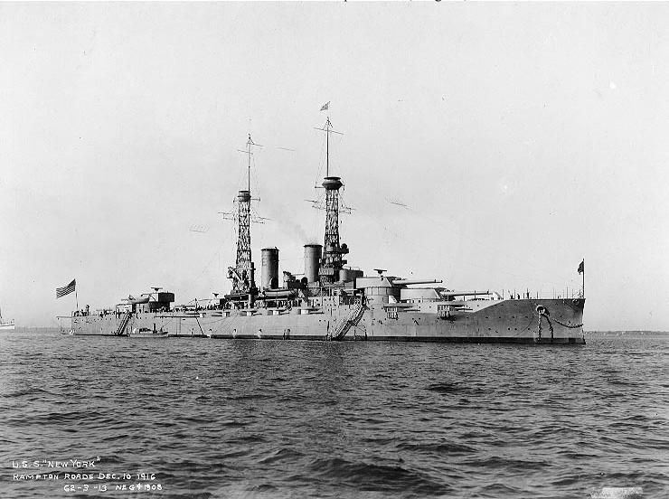 USS New York Hampton Roads 1916