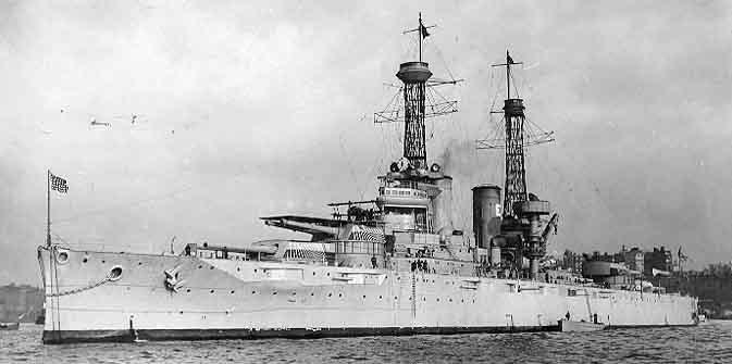 USS Texas off New York City 1919