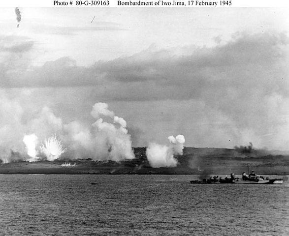 USS Texas at Iwo Jima