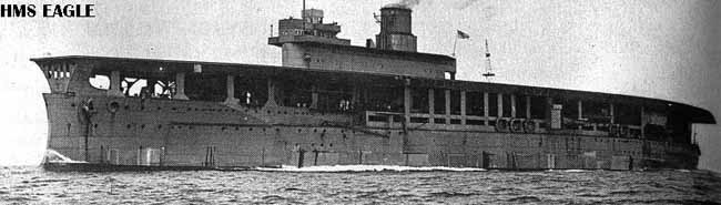 HMS Eagle in 1920 during her first trials