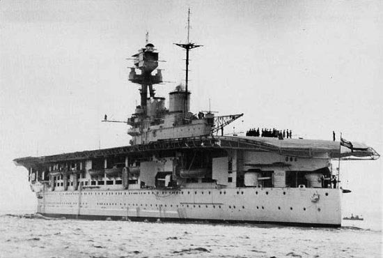 Stern view of HMS Eagle