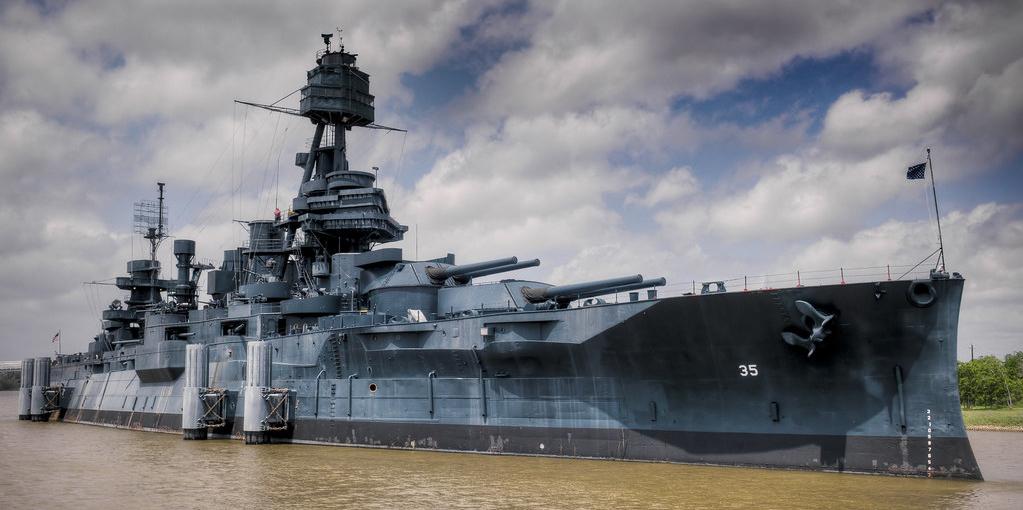 USS Texas at San Jacinto state park